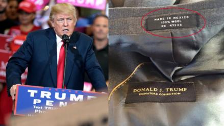 Los trajes de Donald Trump son confeccionados en México y China