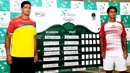 Emilio Gómez y Juan Varillas abrirán la serie Ecuador-Perú por Copa Davis