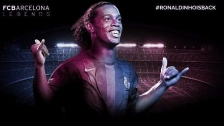 Ronaldinho se convirtió en el nuevo representante del Barcelona