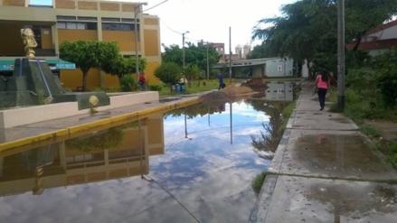 UNPRG suspendió actividades tras inundación por lluvias