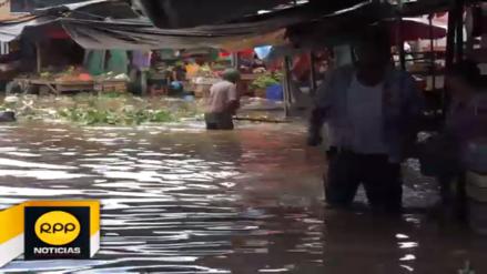 Tumbes: mercado de Aguas Verdes quedó inundado