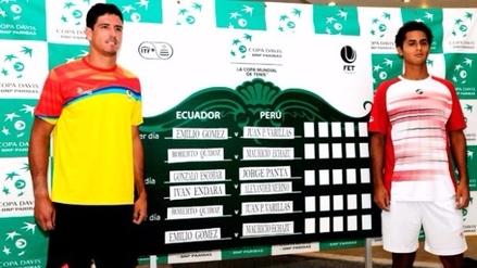 Perú terminó perdiendo 2-0 con Ecuador en el primer día de la Copa Davis