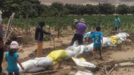 Autoridades inspeccionan sector afectado por lluvias en Nepeña