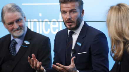 David Beckham negó que use labor humanitaria para sus negocios