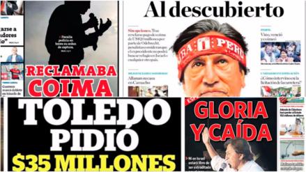 Estas fueron las portadas tras las revelaciones sobre Alejandro Toledo