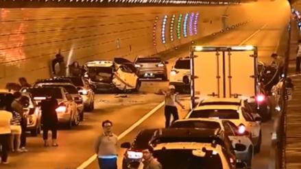 Un accidente en Corea del Sur motiva la solidaridad de los conductores