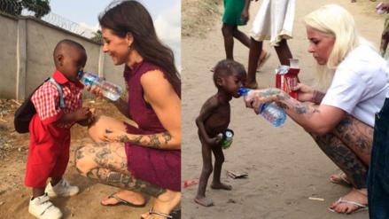 Así cambió en un año el niño nigeriano abandonado por ser un