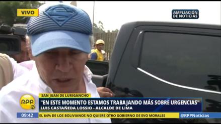 Así respondió Castañeda al pedido de apoyo de San Juan de Lurigancho