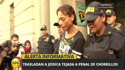 Jessica Tejada fue trasladada al penal de mujeres de Chorrillos