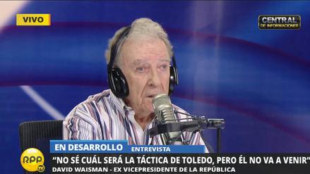 Waisman a Alejandro Toledo:
