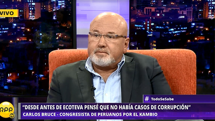 """Carlos Bruce: """"Siento indignación y cierta pena por Alejandro Toledo"""""""