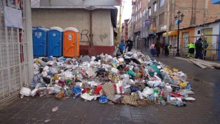 Cantidad de basura se triplicó en Puno durante festividad de la Candelaria