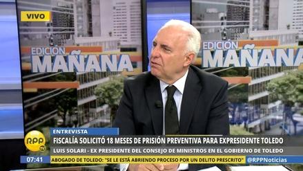 """Luis Solari: """"Toledo no viene, tendrán que extraditarlo"""""""