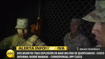 Explosión de pirotécnicos en cuartel militar dejó dos muertos