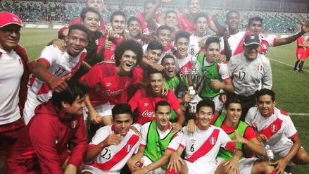 Así celebró la Selección Peruana Sub-17 la Copa Rancagua en Chile