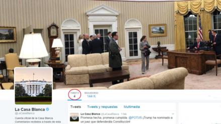 La cuenta de Twitter en español de la Casa Blanca cae en el olvido