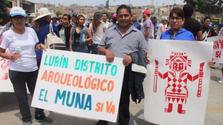 Vecinos de Lurín a favor de que se construya el Museo Nacional de Arqueología
