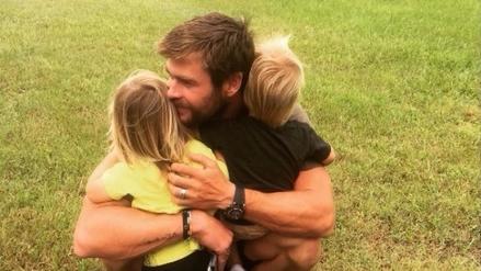 Chris Hemsworth muestra su faceta como padre en Instagram
