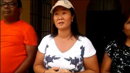 Keiko Fujimori entregó donaciones a damnificados por lluvias en Palpa