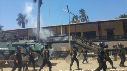 Dos policías heridos de bala en instalación de nueva administración de Tumán