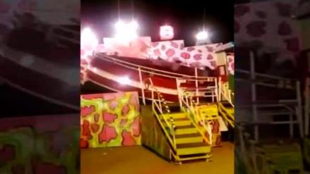 """Juego mecánico """"Tagada"""" se desprende y deja 13 heridos en Chile"""