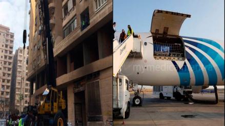 Necesitaron grúa y avión para trasladar a la mujer más obesa del mundo a un hospital