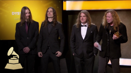 Video | Grammy: Megadeth recibió premio con música de Metallica