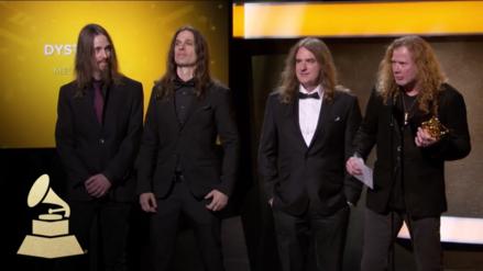 Video | Grammy: Megadeth recibió premio con música de Metallica