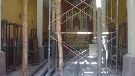 Chiclayo: realizan trabajos en capilla que se derrumbó por las lluvias