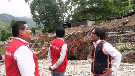 Contraloría y gobierno regional inspeccionan trabajos de descolmatación en ríos