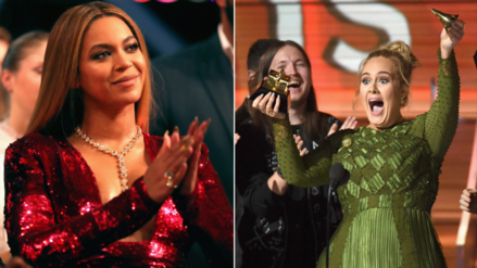 Adele desarma su Grammy para compartirlo con Beyoncé