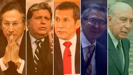 ¿Cuál es la situación judicial de los expresidentes del Perú?