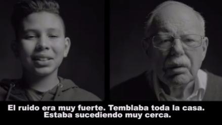Refugiados de dos generaciones cuentan en un vídeo las atrocidades de la guerra