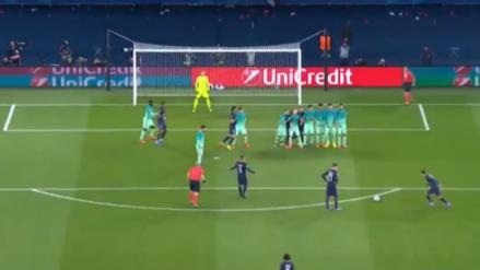 Angel Di María anotó un golazo de tiro libre para el PSG