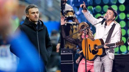 Confunden al cantante Luis Enrique con el técnico del Barcelona en Twitter