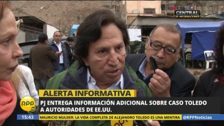 El Poder Judicial envió la información del caso Toledo pedida por EE.UU.