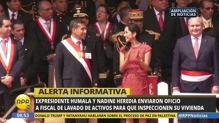 Humala y Heredia ofrecen al fiscal facilidades para inspeccionar su casa