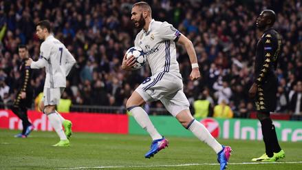 Karim Benzema anotó para Real Madrid luego de un centro genial de Carvajal