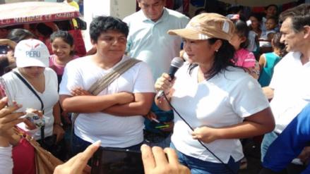 Chiclayo: Keiko Fujimori recorrió varias zonas afectadas por las lluvias