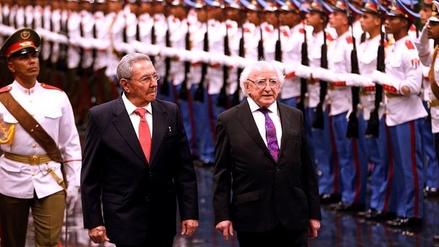 Michael Higgins, el primer gobernante irlandés que visita Cuba