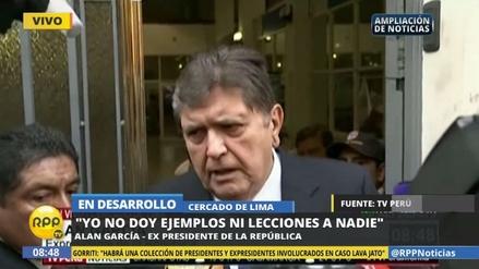 """Alan García: """"Que se hagan todas las indagaciones, aquí estoy"""""""
