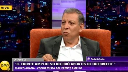 "Marco Arana: ""Espero que exministros no se inmolen por Alan García en caso Odebrecht"""