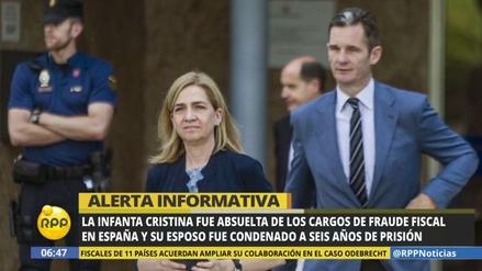 Corte española absuelve a la infanta Cristina en caso de fraude fiscal