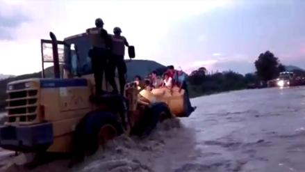Chongoyape: vigilan incremento del caudal de la quebrada Juana Ríos
