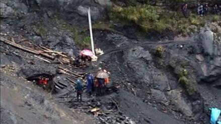 Un muerto y tres heridos dejó derrumbe en mina informal