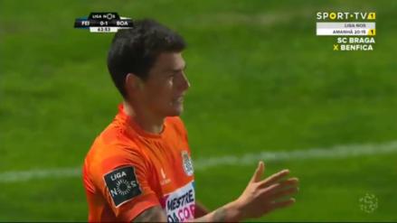 Iván Bulos anotó su primer gol con la camiseta de Boavista en Portugal