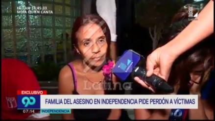 Los familiares del asesino de Independencia pidieron perdón por sus crímenes