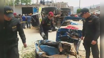 Cuatro muertos dejó choque múltiple en Cajamarca