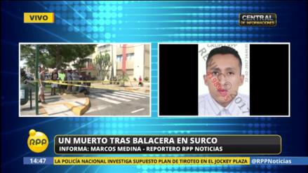 Un hombre murió baleado en el distrito de Surco