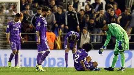 Real Madrid cayó de visita ante Valencia y peligra la punta de la Liga